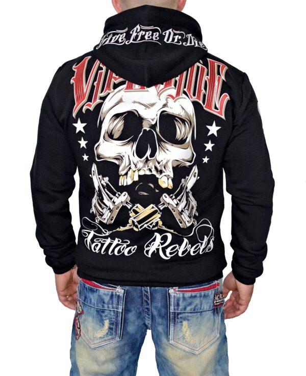 """Vipeside Hoodie """"Tattoo Rebels"""" SH-04 black"""