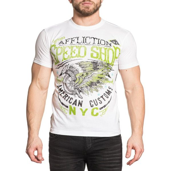 Affliction Herren T-Shirt A-16357 weiß