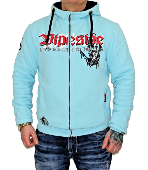 Vipeside Sweat-Jacke dark hand SWJ-02 türkis