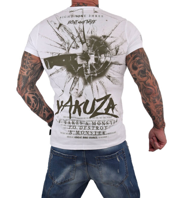 Yakuza Destroy A Monster T-Shirt TSB-15023 weiß
