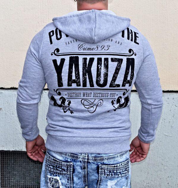 Yakuza Hoodie HOB-10064 grey