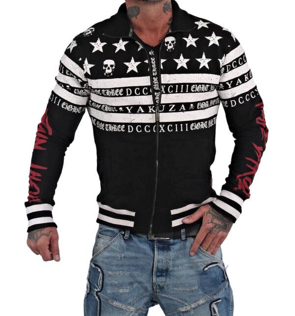 Yakuza Skull N Stripes Trainingsjacke ZB-14018 black