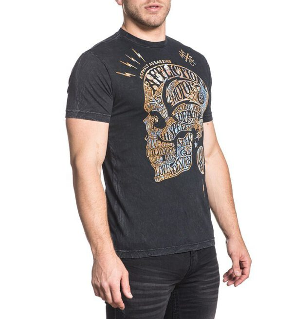 Affliction T-Shirt Motor Head A-18023 bla