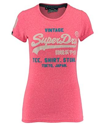 Superdry Damen T-Shirt G10022XN snowy fluro pink