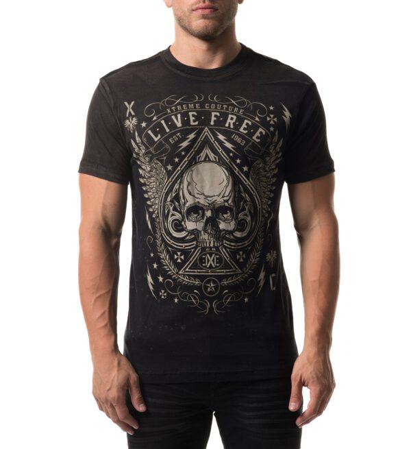 Xtreme Couture T-Shirt X-1774 schwarz/braun