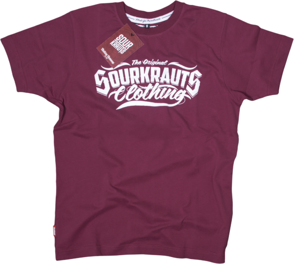 Sourkrauts-T-Shirt-original-weinrot