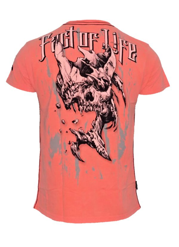 Fact of Life T-Shirt Broken Skull TS-25 fluro coral