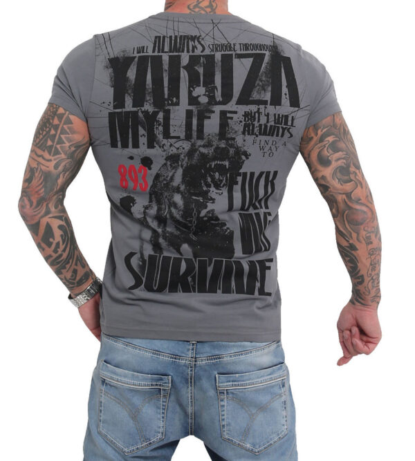 Yakuza T-Shirt TSB16021 grey