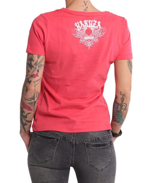 Yakuza Addiction V-Neck T-Shirt GSB-16123 geranium