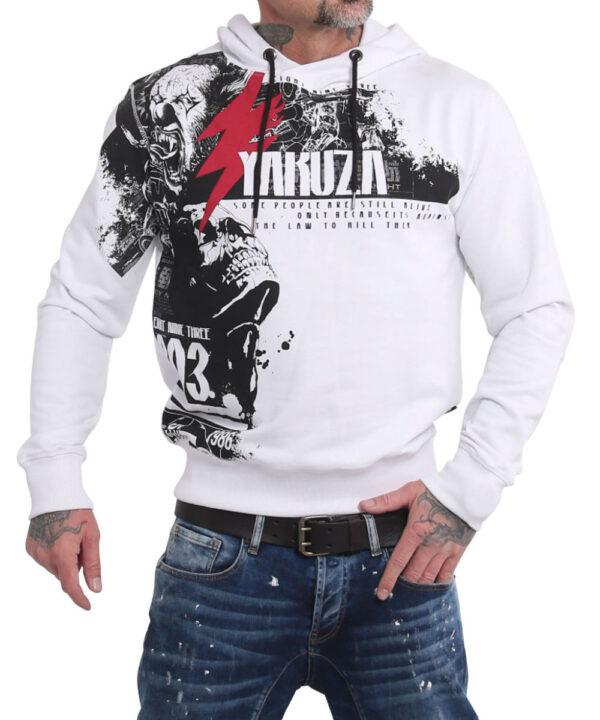 Yakuza Crucified Hoodie HOB-16005 weiß