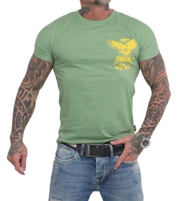Yakuza Dry Ink T-Shirt TSB-16026 turf green
