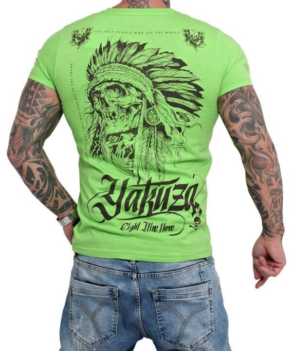 Yakuza Indian Skull T-Shirt TSB-16027 jasmin green