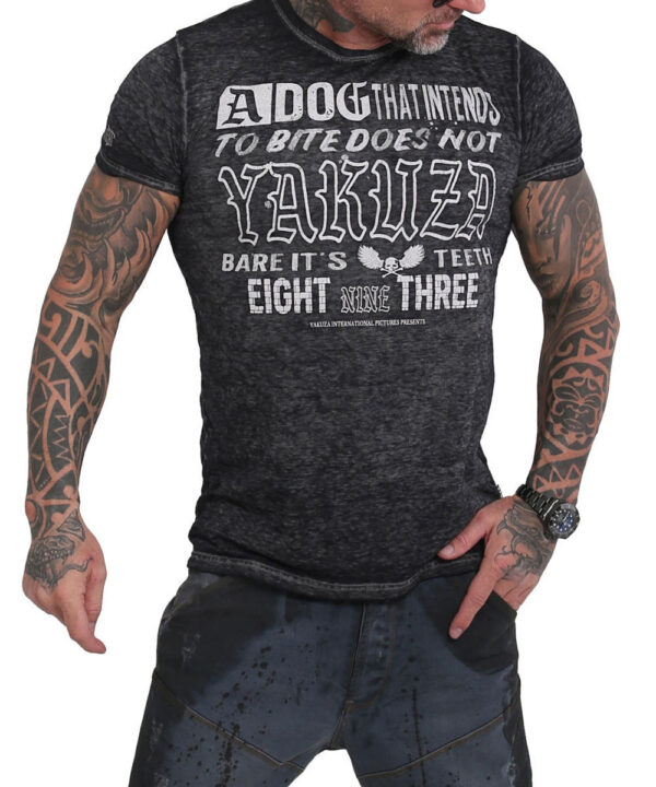Yakuza Dog Burnout T-Shirt TSB-16014 schwarz devore`