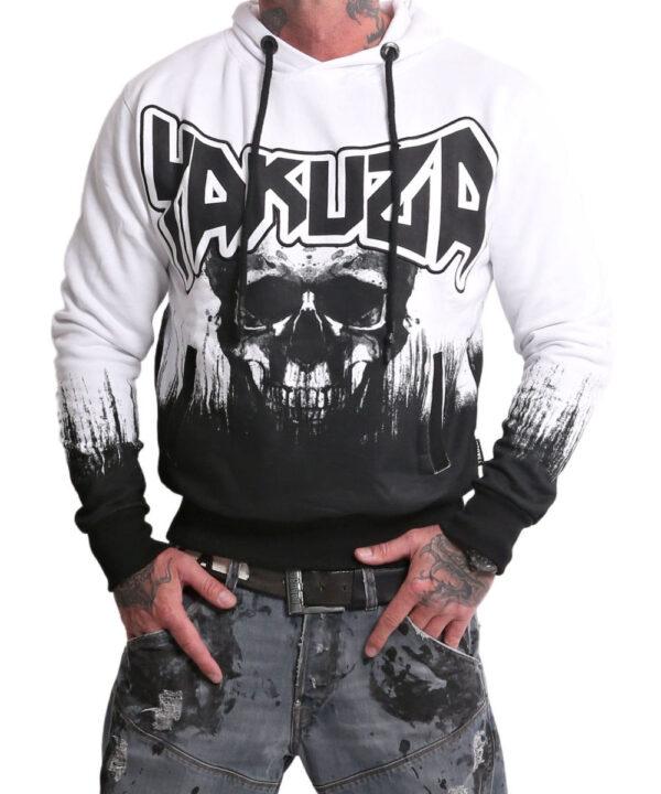 Yakuza Splatter Skull Hoodie HOB-17003