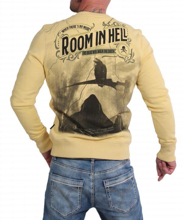 Yakuza Room In Hell Pullover PB 16075 pale banana