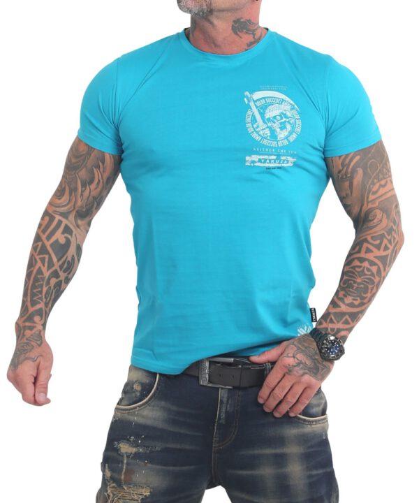 Yakuza Neither The Sun T-Shirt TSB-17037 scuba blue